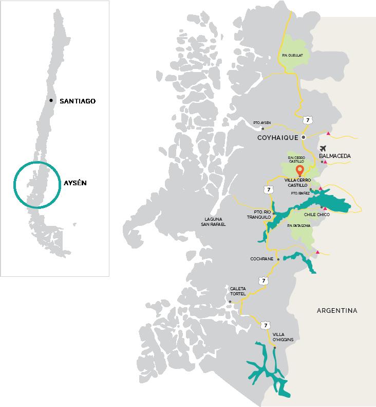 Aysén Map